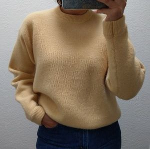GAP Yellow Lambswool Sweater